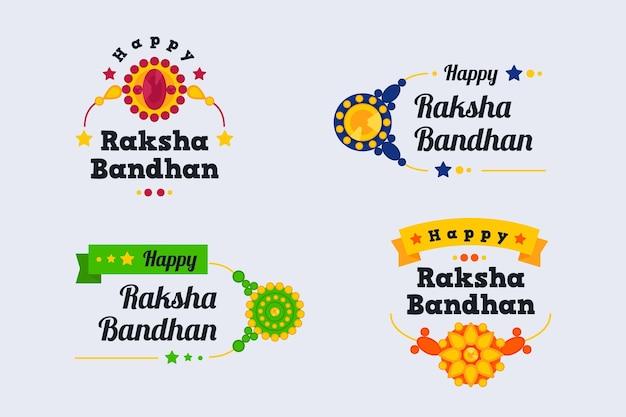Raksha bandhan emblemas conceito