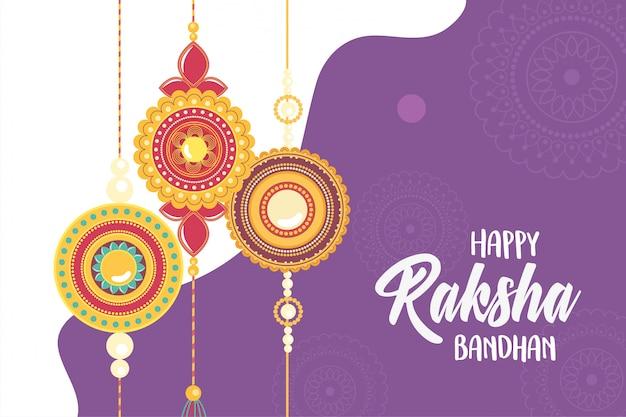 Raksha bandhan, pulseira de jóias relação indiana entre irmãos e irmãs