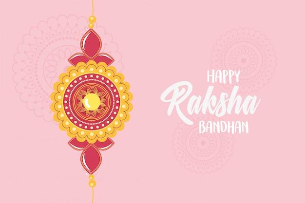 Raksha bandhan, pulseira tradicional de amor irmãos e irmãs festival indiano