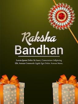 Raksha bandhan rakhi de cristal realista e presentes
