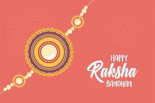 Raksha bandhan, símbolo tradicional pulseira indiana de amor entre irmãos e irmãs