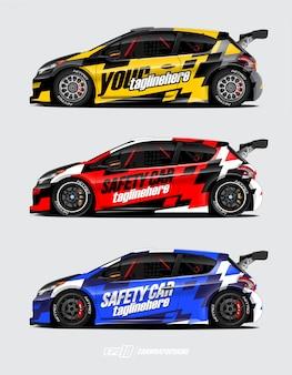 Rally carro envoltório conjunto