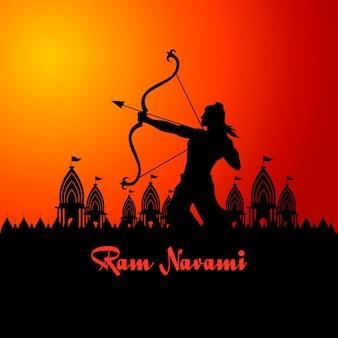 Ram navami celebração estilo simples