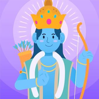 Ram navami com arqueiro de personagem