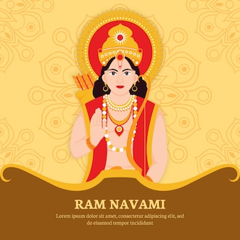 Ram navami com caráter hindu