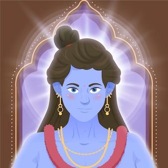 Ram navami com deusa mulher