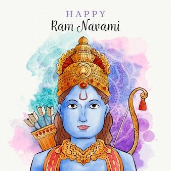 Ram navami em aquarela