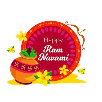 Ram navami evento estilo simples