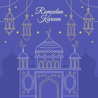 Ramadã de mão desenhada