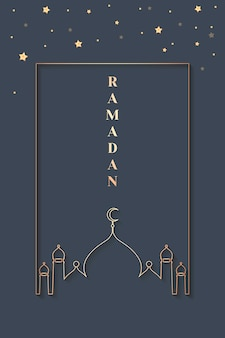 Ramadan framed design de cartão