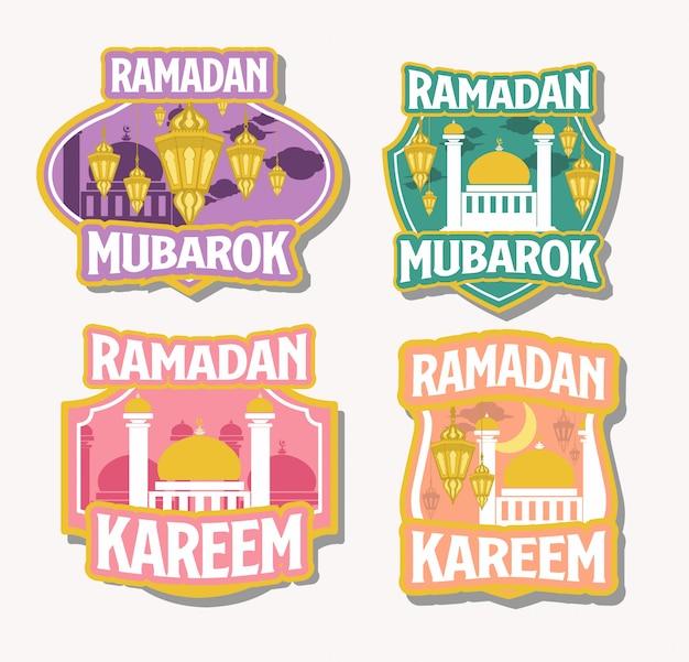 Ramadan kareem badges