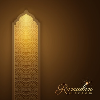 Ramadan kareem brilham padrão árabe