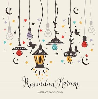 Ramadan kareem cartão de cumprimentos