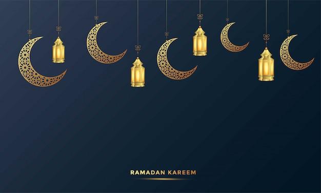 Ramadan kareem cartão islâmico ilustração de fundo