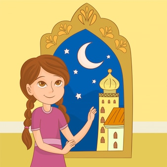 Ramadan kareem cartão