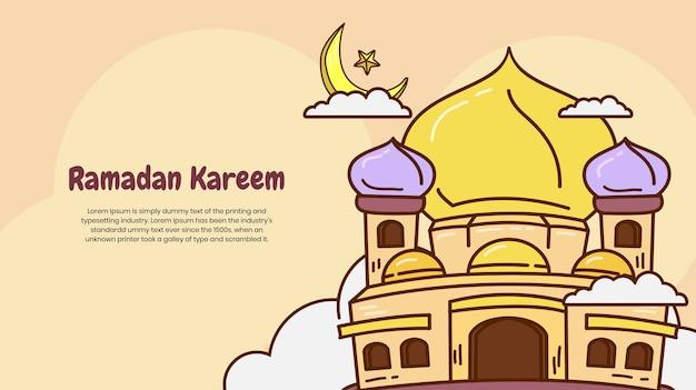 Ramadan kareem com mesquita