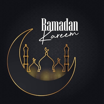 Ramadan kareem cresent moon pattern background