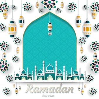 Ramadan kareem de design de convites