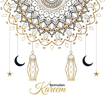 Ramadan kareem decorativa linda saudação