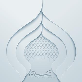 Ramadan kareem dome mesquita padrão geomtrico