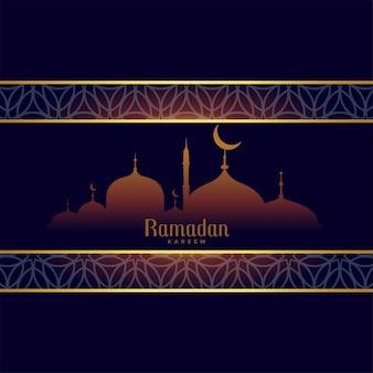 Ramadan kareem fundo em estilo árabe