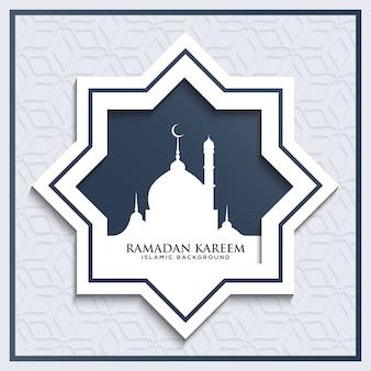 Ramadan kareem fundo islâmico com estilo cinza