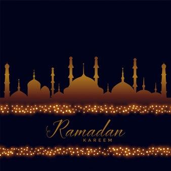 Ramadan kareem fundo islâmico