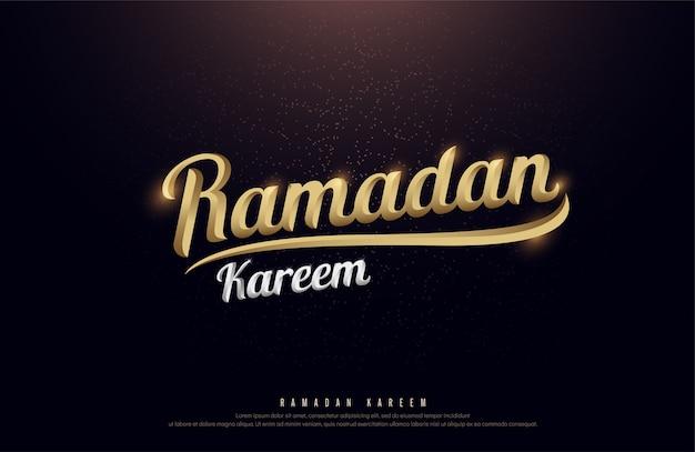 Ramadan kareem golden logo