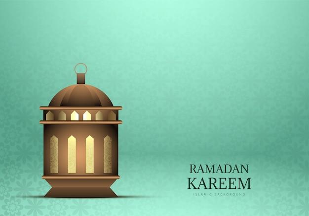 Ramadan kareem lâmpada bonita fundo