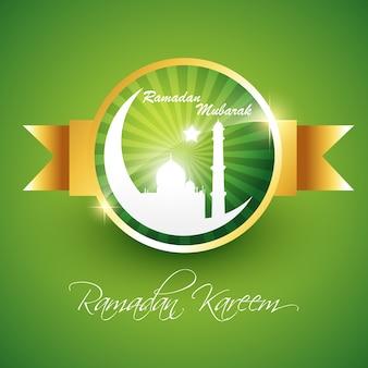 Ramadan kareem linda ilustração vetorial