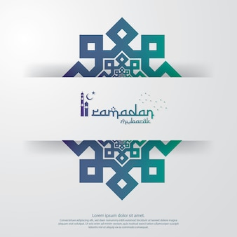Ramadan kareem ou eid mubarak modelo
