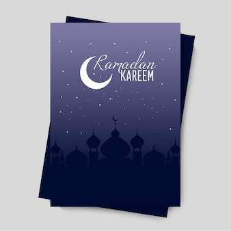 Ramadan kareem ou ramadan mubarak template design.