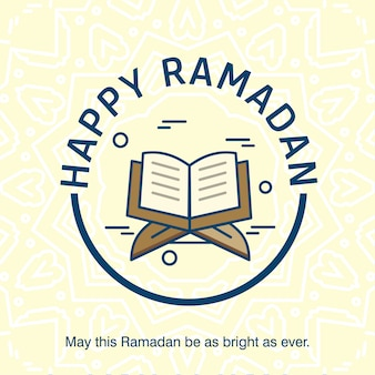 Ramadan kareem typogrpahic com desenho criativo vector
