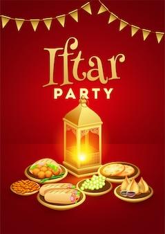 Ramadan mubarak, conceito do partido de iftar.