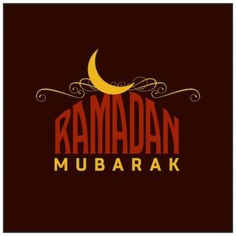 Ramadan vintage inglês tipografia fundo