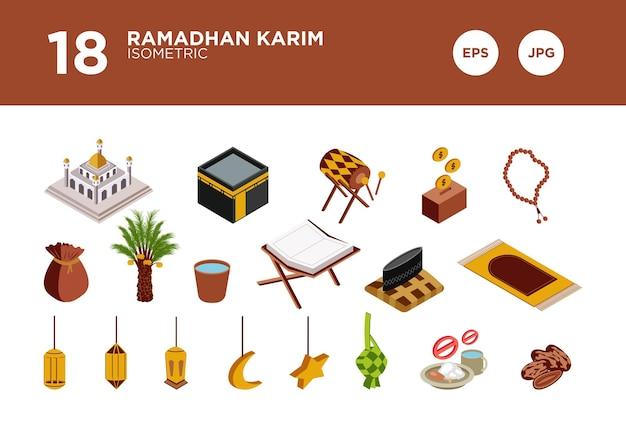 Ramadhan karim design isométrico