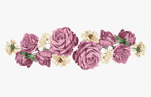 Ramalhete floral doce cor-de-rosa e branco das margaridas cor-de-rosa