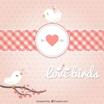 Ramos aves em corações