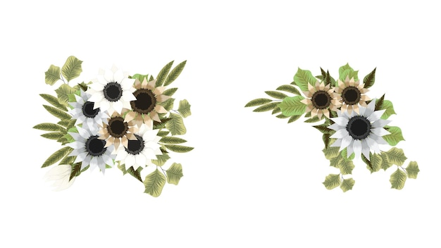 Ramos florais conjunto buquê de flores coloridas para embalagens de cosméticos