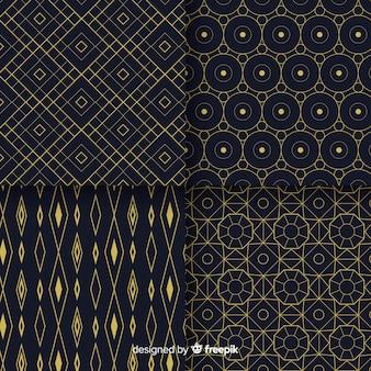 Randomize a coleção de design de padrão geométrico