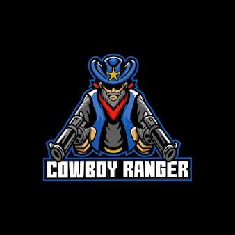 Ranger solitário do oeste selvagem com cowboy