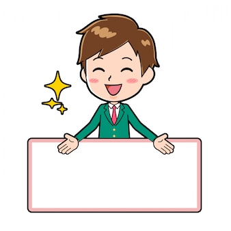 Rapaz bonito personagem de desenho animado