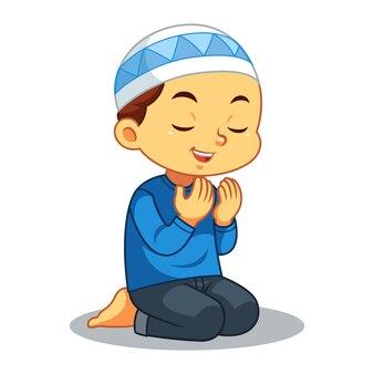 Rapaz muçulmano rezando
