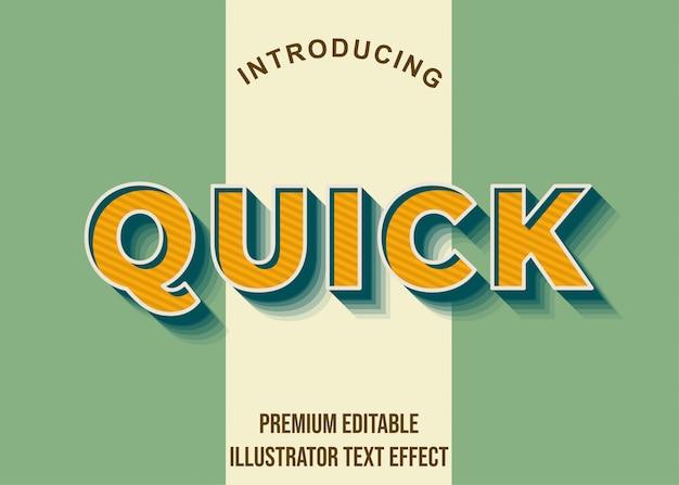 Rápido - efeito de texto do ilustrador 3d