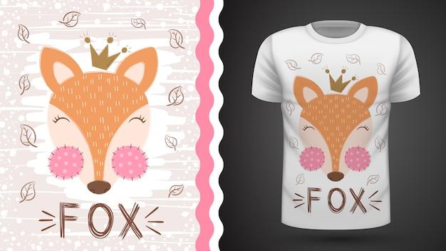 Raposa bonito - idéia para impressão t-shirt