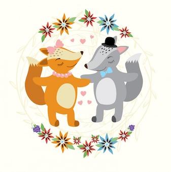 Raposa e lobo