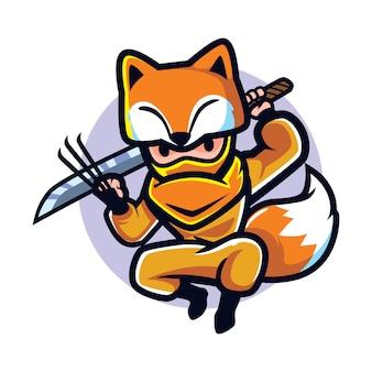 Raposa ninja dos desenhos animados