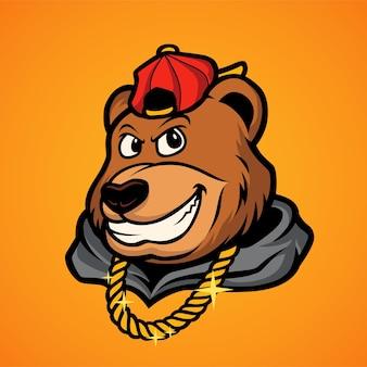 Rapper cabeça de urso