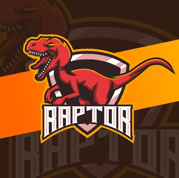 Raptor mascote esport design de logotipo