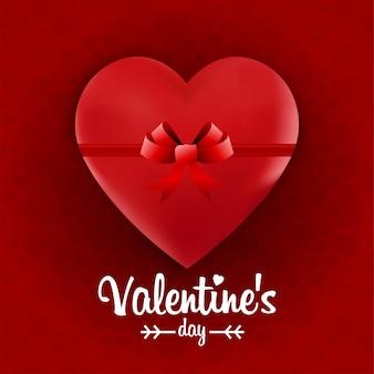 Raqueta do coração da fita do dia dos namorados